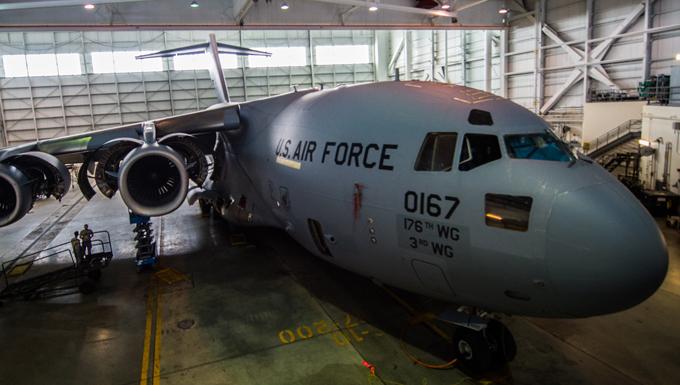 C-17 undergoes services