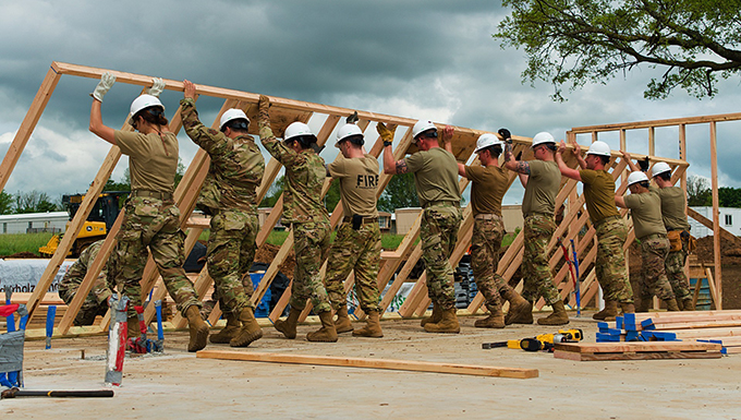 Midnight Sun Guardian engineers build homes for Cherokee veterans as part of training